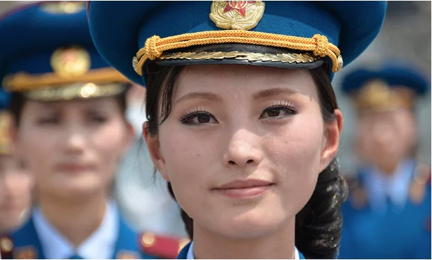 North Korea Army Girl
